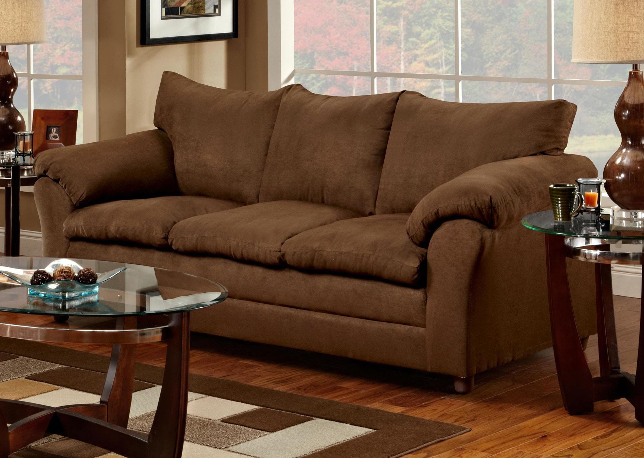 Washington Living Room Chocolate Sofa Furniture