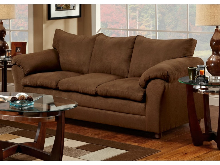 Washington Living Room Chocolate Sofa 035782 Furniture