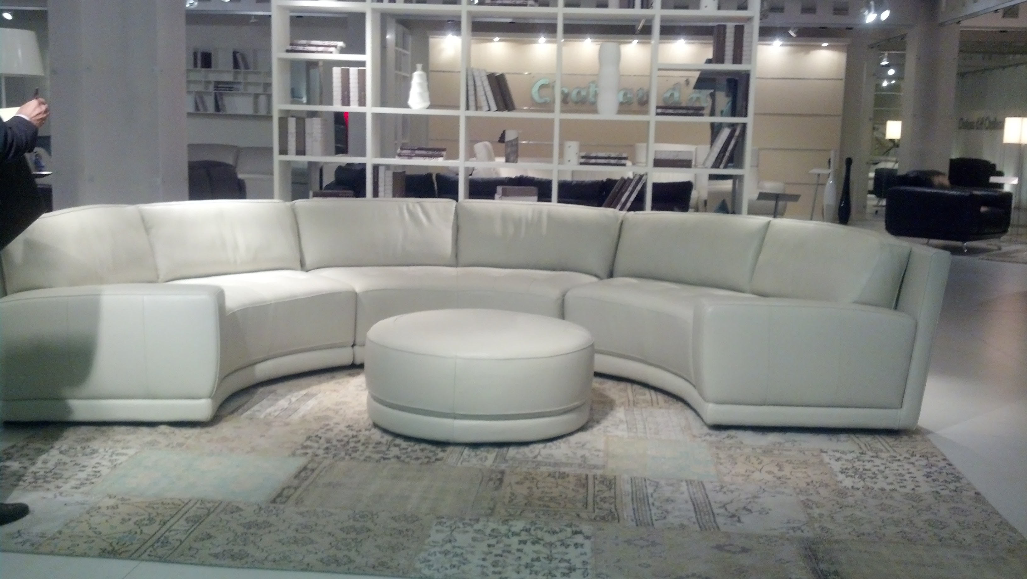 Chateau Du0027ax Living Room Sleek Curved Italian Leather Sectional. U807 At  Hamilton Sofa U0026 Leather Gallery