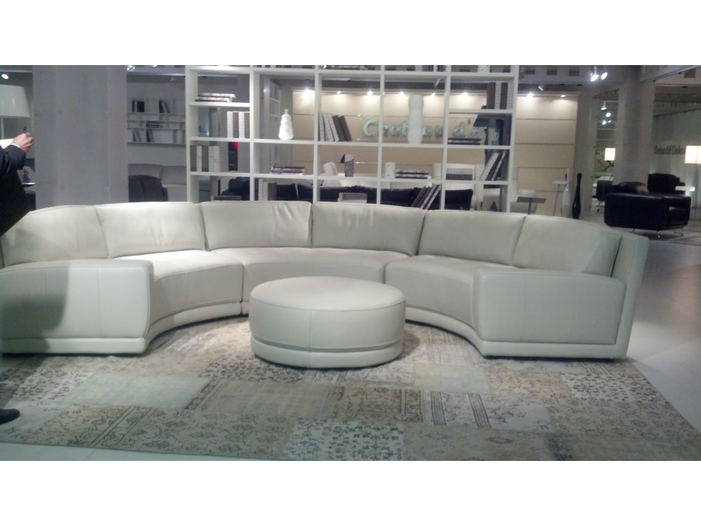 Chateau d39ax living room sleek curved italian leather for Chateau d ax sectional leather sofa