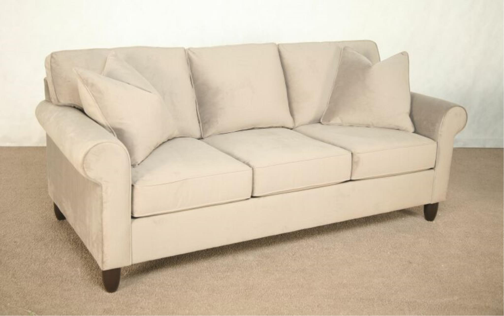 Bauhaus Living Room Rolled arm sectional available in endless