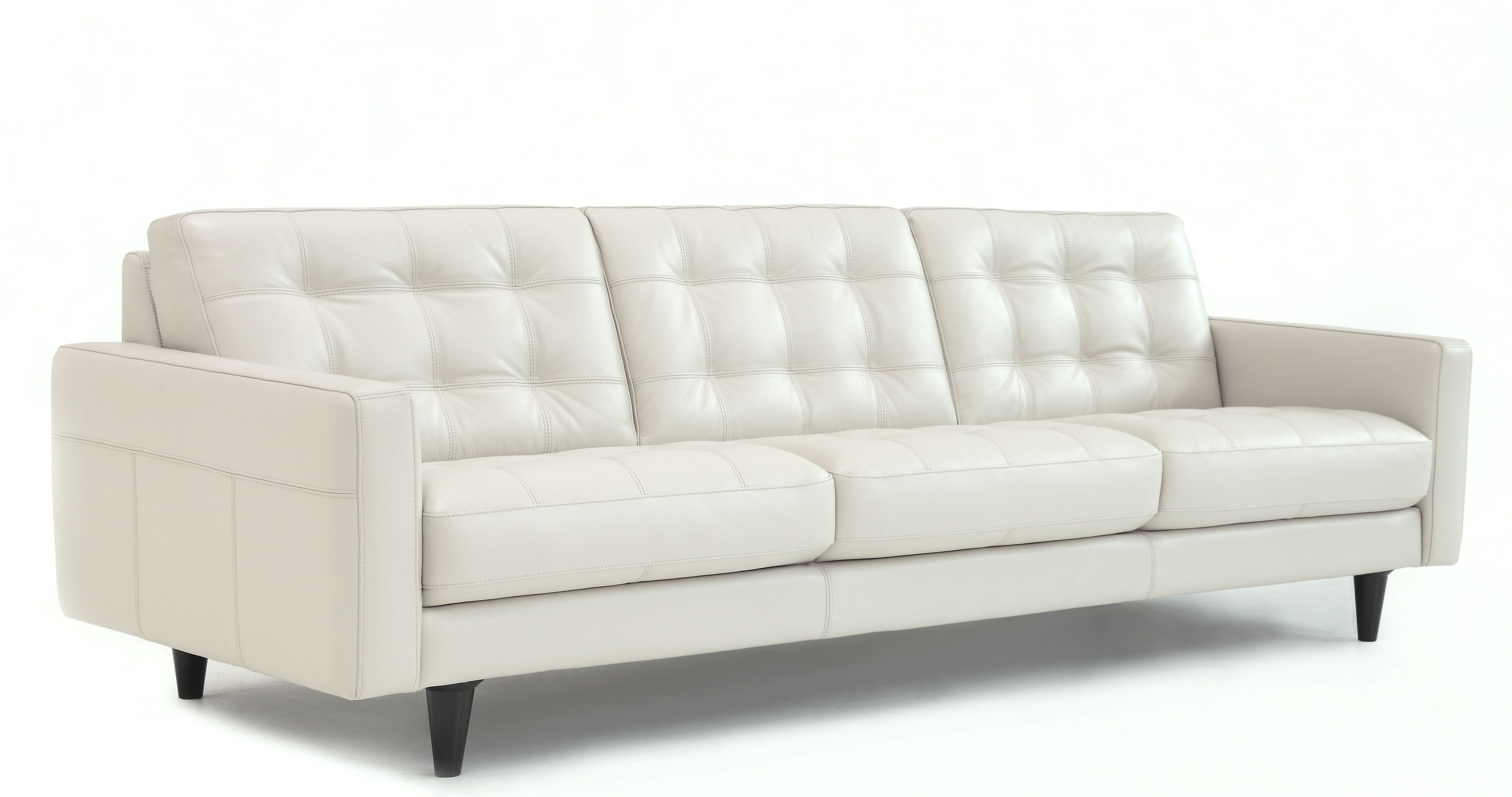 Chateau Du0027ax Italian Leather Tufted Sofa U217