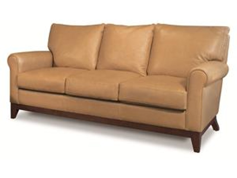 Elite Leather Living Room apartment size sofa with wood base 26019 ...