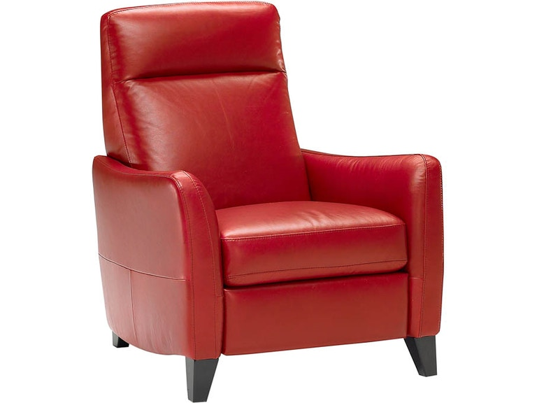 Natuzzi Living Room Modern Italian Leather Recliner B537 Hamilton - Red-italian-leather-armchairs-from-natuzzi