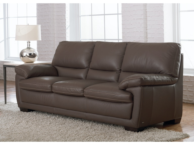 Natuzzi Living Room transitional Italian leather sofa B674 ...