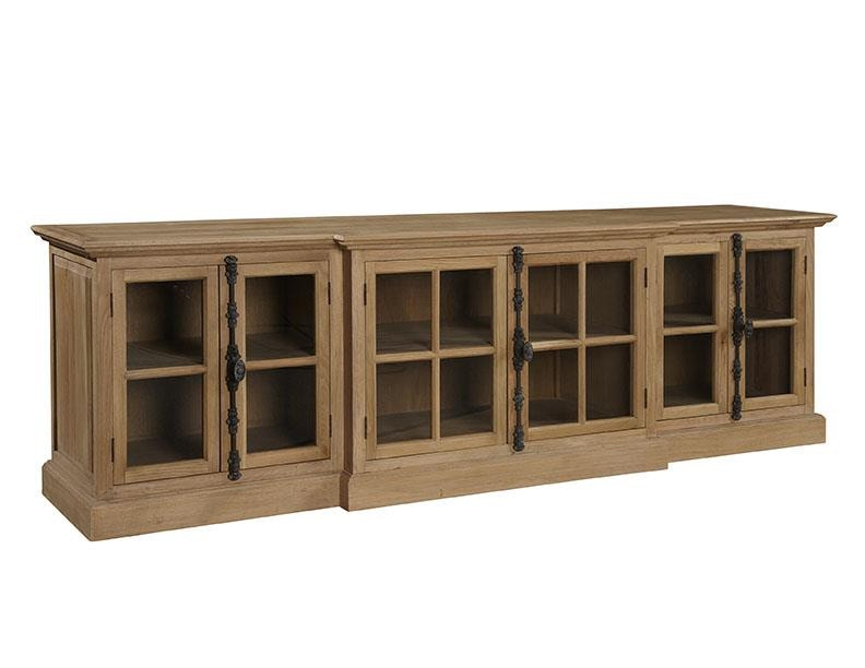 Furniture Classics Living Room Washed Oak Entertainment Console