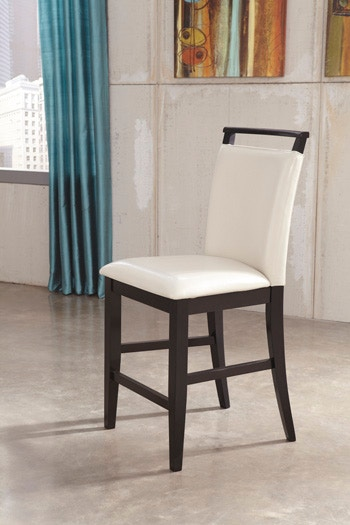Ashley Trishelle Pairs Contemporary Design With The Comfort Of An  Upholstered Bar Stool Dark