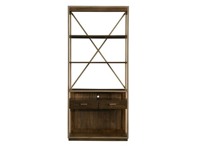 Antonia Santa Clara-Bookcase in Burnished Walnut 585-11-18