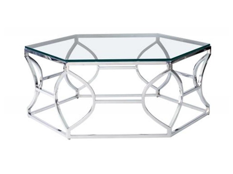 Barcelona Argent Metal Cocktail Table 326-021