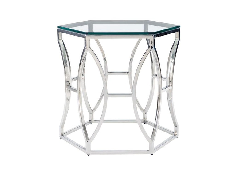 Barcelona Argent Metal Side Table 326-121