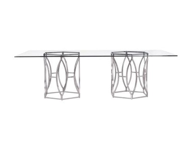 Barcelona Argent Rectangular Dining Table (100) 326-771, 326-1050