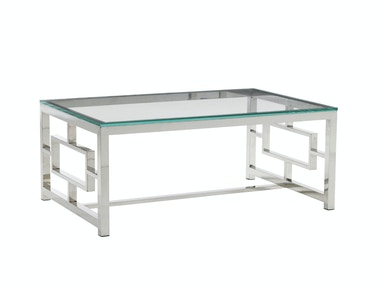 Belair Collection Russell Glass Top Cocktail Table 458-943C