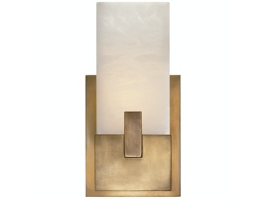 Venice Covet Short Clip Bath Sconce in Antique-Burnished Brass KW 2113AB-ALB