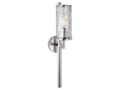 Venice Liaison Single Sconce in Polished Nickel with Crackle Glass KW 2200PN-CRG