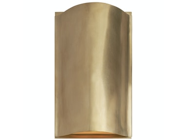 Venice Avant Small Curve Sconce in Antique-Burnished Brass with Frosted Glass KW 2704AB-FG