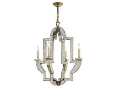 Venice Lido Medium Chandelier in Antique Mirror and Hand-Rubbed Antique Brass NW 5040AM/HAB
