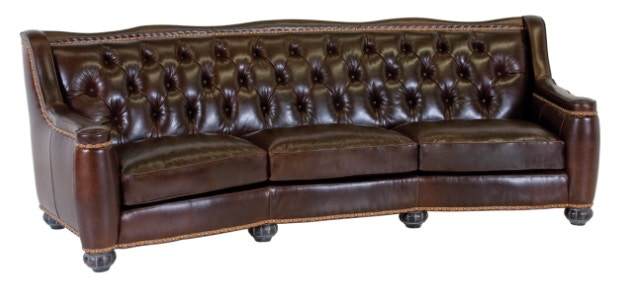... Consignment Furniture Asheville By Classic Leather Living Room Chelsea  Tufted Sofa 8628 ...