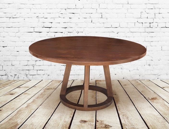 Alder And Tweed Dining Room Dark Chestnut Mendocino Round Table AT8920 DCH    High Country Furniture U0026 Design   Waynesville, Asheville And  Hendersonville, NC