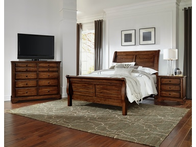 Artisan & Post Artisan Choices - Rustic Cherry Sleigh Bed ALE-101A