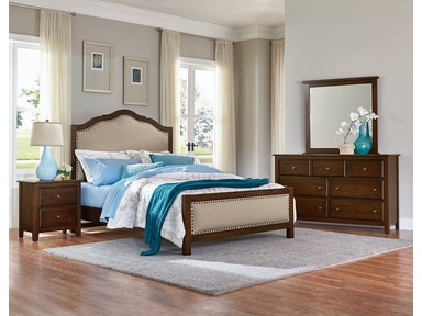 Artisan & Post Artisan Choices - Dark Cherry Upholstered Bed ALE-104E