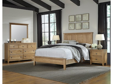 Artisan & Post Artisan Choices - Natural Oak Panel Headboard & Low Profile Footboard ALE-105A