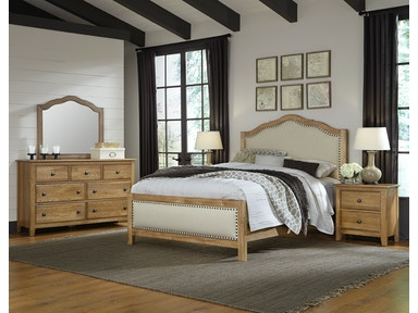 Artisan & Post Artisan Choices - Natural Oak Upholstered Bed ALE-105B