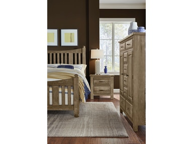 Artisan & Post Maple Road - Weathered Gray Slat Poster Bed -Sweater Chest ALE-115C