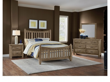 Artisan & Post Maple Road - Weathered Gray Slat Poster Bed ALE-115B
