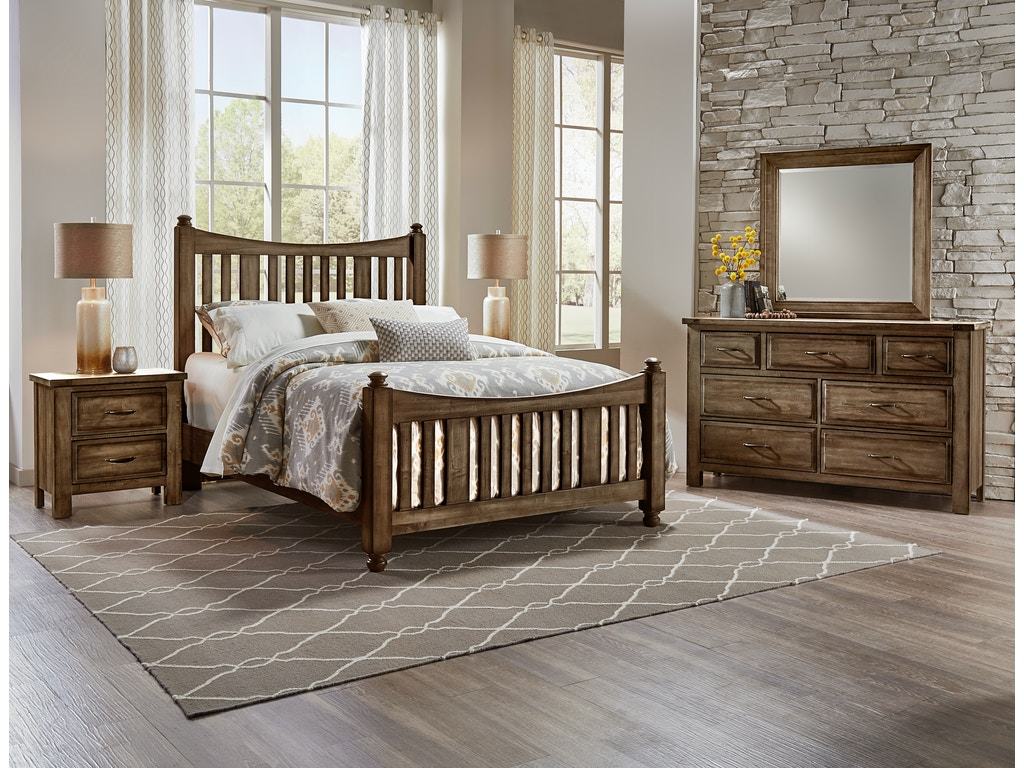 Artisan  Post Bedroom Maple Road Maple Syrup Mansion Bed ALE - Bedroom furniture charlotte nc