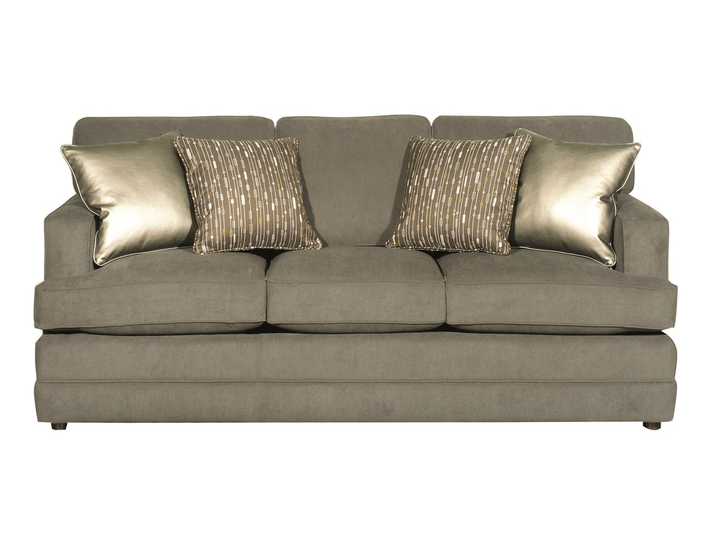 Bassett Living Room Three Cushion Sofa Bas 3937 Tyndall Furniture Galleries Inc Charlotte