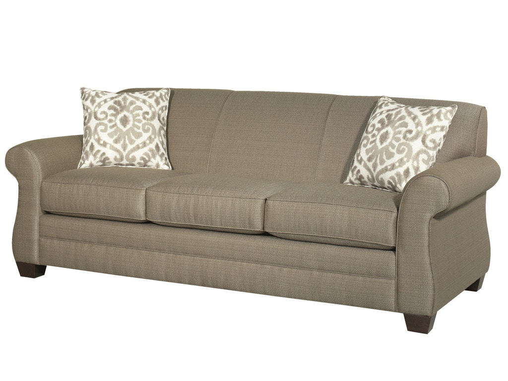 Bassett Living Room Maverick Three Seat Sofa Bas 3990 Tyndall Furniture Galleries Inc