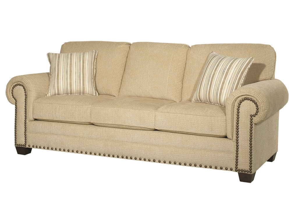 Bassett Living Room Riverton Three Seat Sofa Bas 3995 Tyndall Furniture Galleries Inc