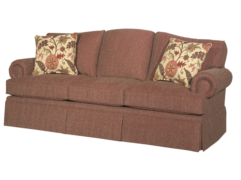 Bassett Living Room Contessa Three Seat Sofa Bas 3998 Tyndall Furniture Galleries Inc