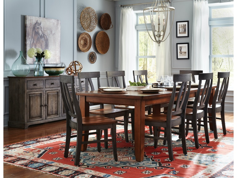 John Thomas Dining Room Farmhouse Table T 4066XXTT C170B At Tyndall Furniture Galleries INC