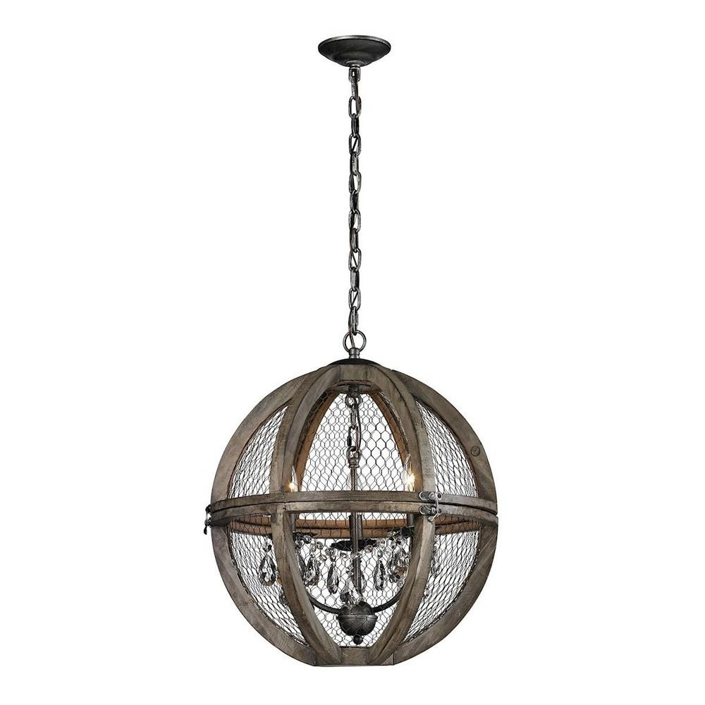 Wire Chandelier Small Center Wiring Diagram How To A Elk Lighting Accessories Wood And 140 007 Rh Afd Furniture Com Contemporary