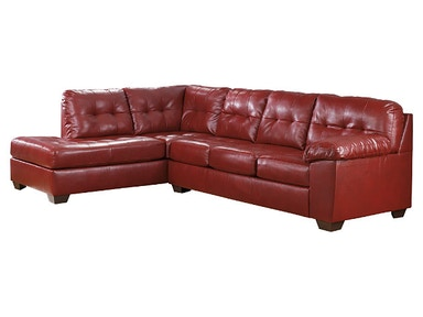 Ashley 2 PIECE CHOCOLATE SECTIONAL UPPKAS2010A