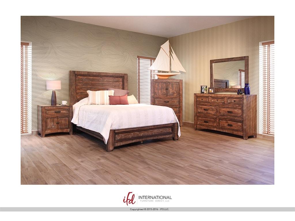 International Furniture Bedroom Portico Platform Bed Bdpkif2020a American Factory Direct