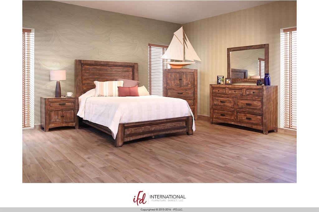 International Furniture Direct Bedroom Portico Platform Bed Bdpkif2020a American Factory