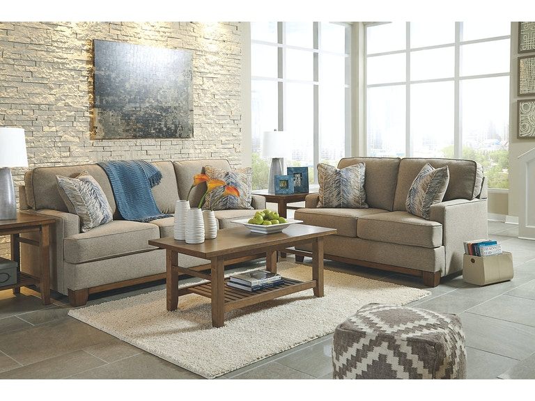 Ashley Furniture Industries Hillsway Pebble 5 Piece Living Room Set Rspkas34104a