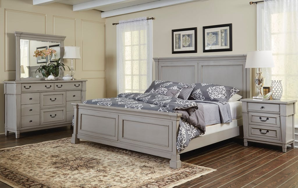 Holland House Bedroom STONEY HARBOR GREY STONE HARBOR GREY At American  Factory Direct