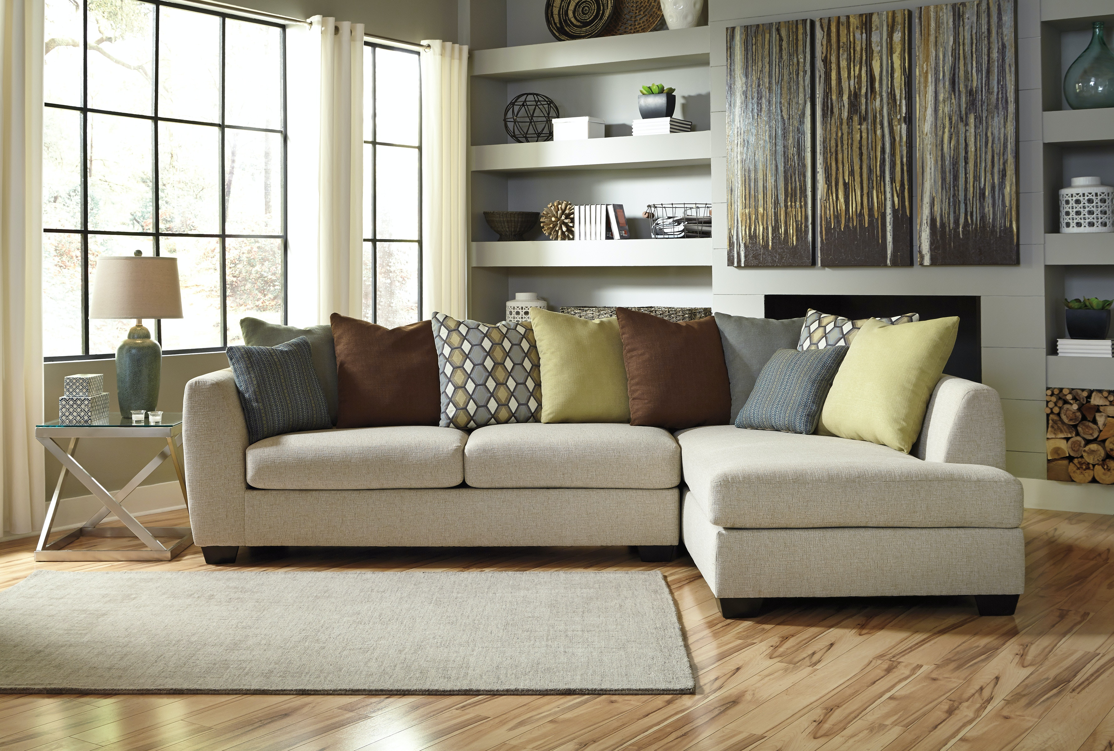 Nice ASHLEY FURNITURE INDUSTRIES Sectional Uppkas8290a