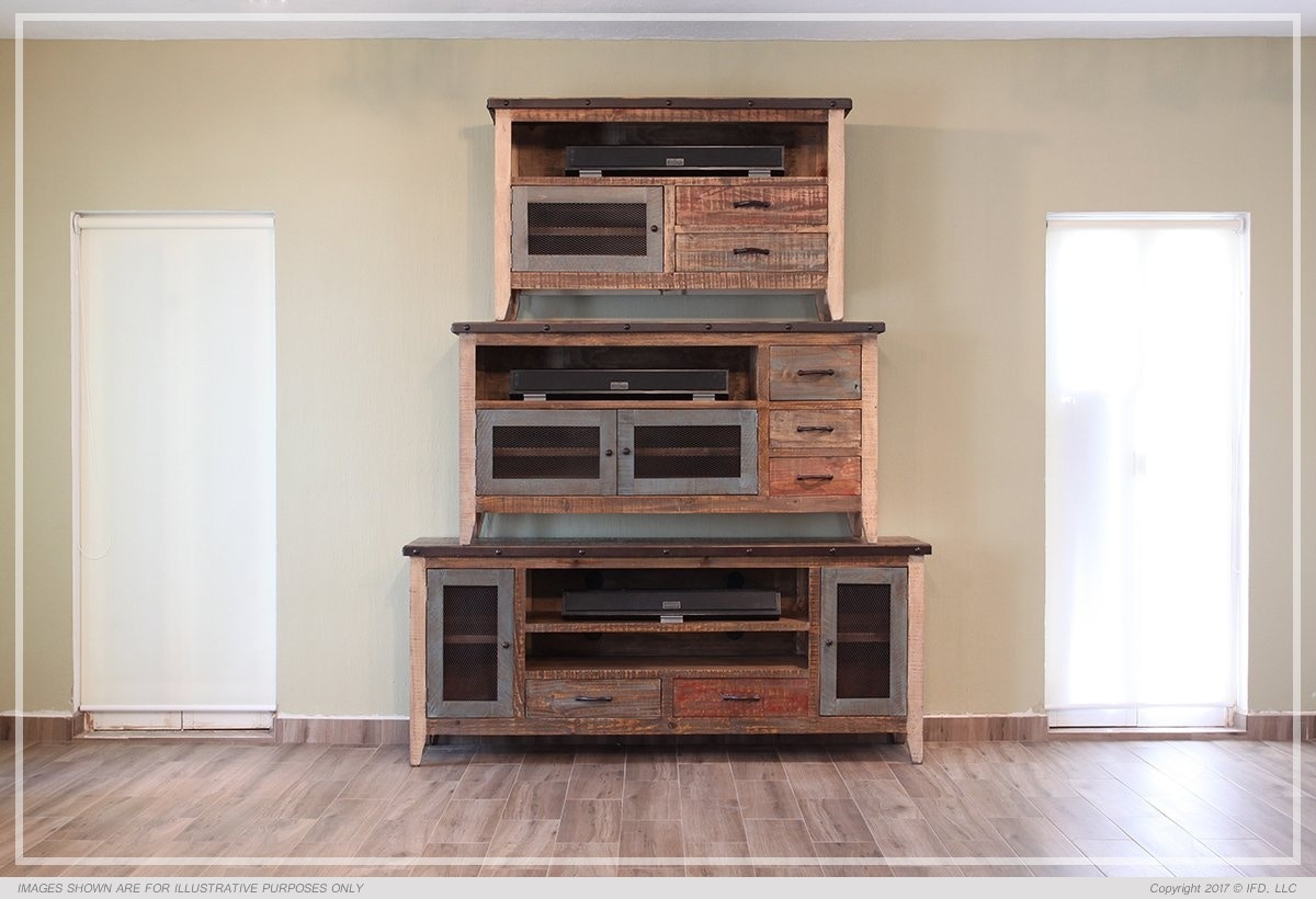 International Furniture Direct Home Entertainment Antique 62 Inch TV Stand  IFD967STAND At American Factory Direct