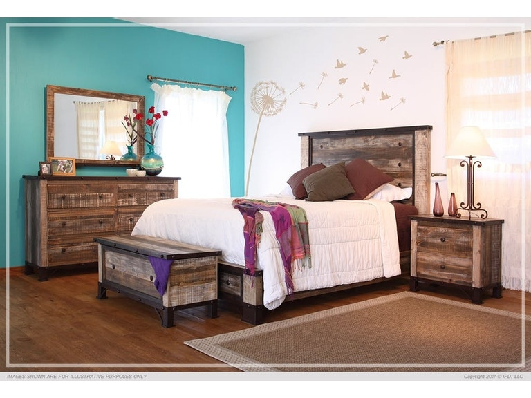 International Furniture Direct Antique Collection - International Furniture Direct Bedroom Antique Collection - American