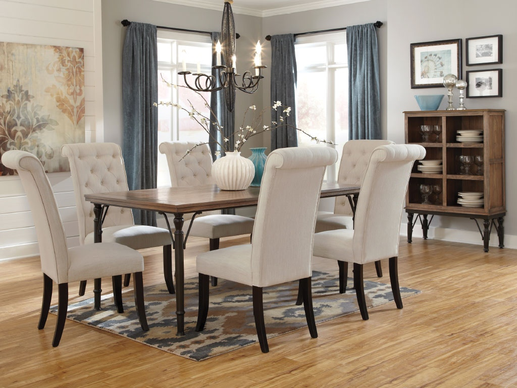 Ashley Dining Room Dining Table 4 Side Chairs Dipkasd530a American Factory Direct Baton