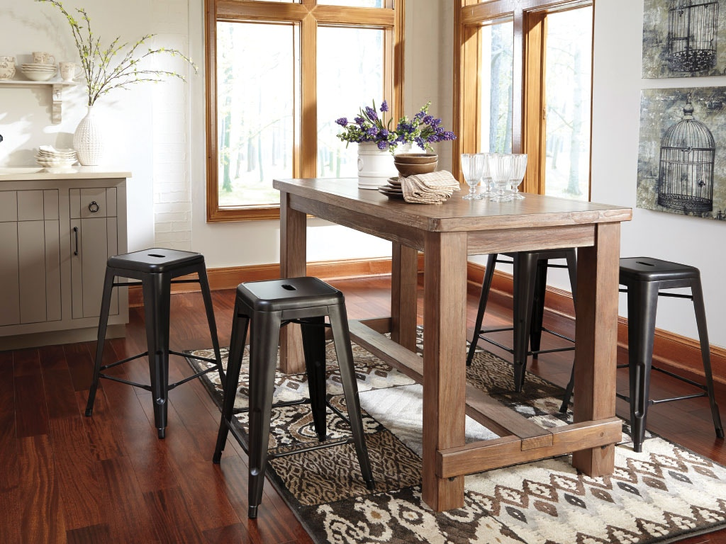 Ashley Dining Room Table 2 Stools Dipkasd542a American Factory Direct Baton Rouge La