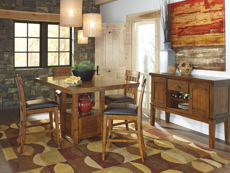 Ashley Dining Room Pub Table 4 Stools Dipkasd594a American Factory Direct Baton Rouge La