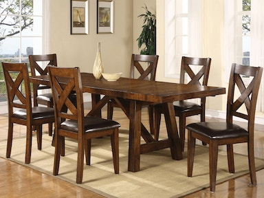 Holland House Dining Table & 4 Side Chairs DIPKHH1278B