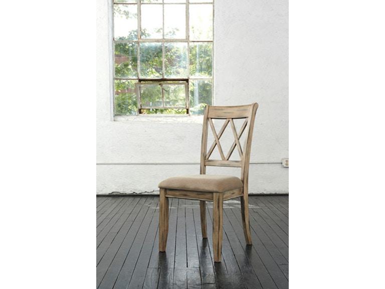 Ashley Side Chair Antique White D540-102 - Ashley Dining Room Side Chair Antique White D540-102 - American