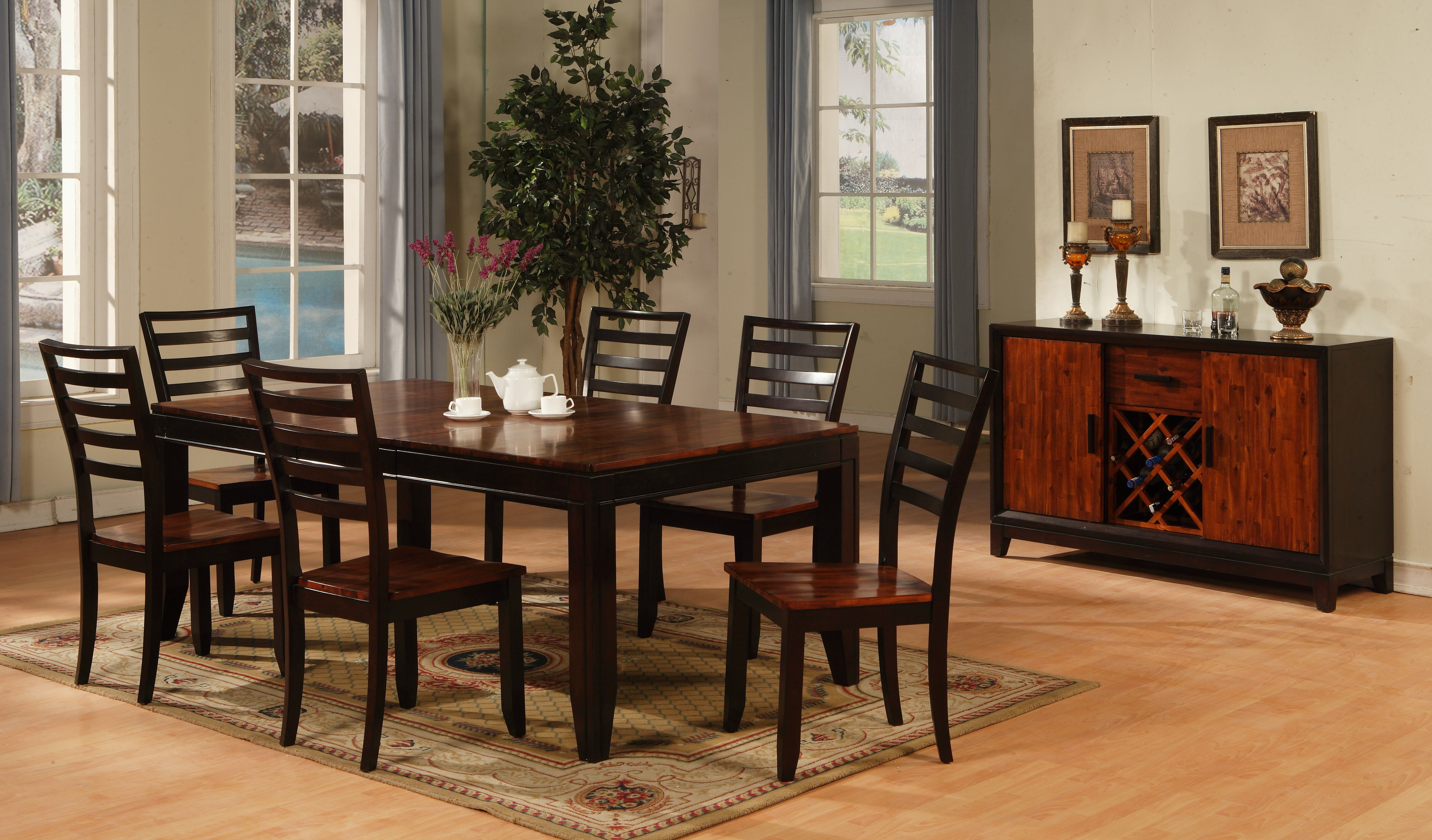 Holland House Dining Room RECTANGLE LEG TABLE 1267 4278L At American  Factory Direct