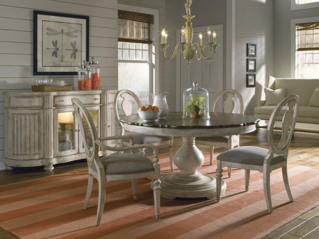 A.R.T. Furniture Dining Room Round Dining Table U0026 4 Side Chairs DNPKAF189C  At American Factory Direct
